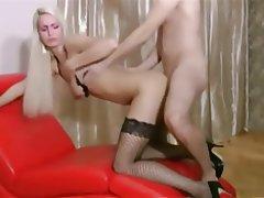Anal Blonde German Stockings