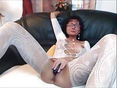 Brunette Lingerie Mature MILF Stockings