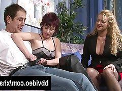 Blowjob German Mature MILF Threesome