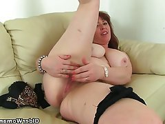 British Hairy Mature MILF Stockings