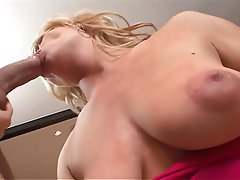 Blonde Facial Mature MILF Stockings