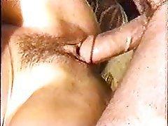 Close Up Hairy Hardcore MILF Threesome