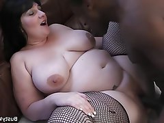 BBW Big Boobs Interracial