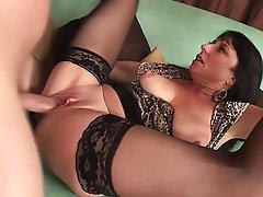 Big Boobs Brunette Mature MILF Stockings