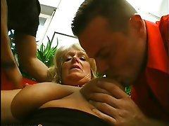 Big Boobs Granny Hairy Mature Threesome