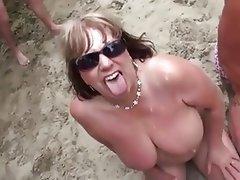 Amateur Beach Bukkake Mature