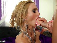 Blonde Blowjob Facial Pornstar POV