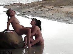 Beach Lesbian MILF Teen