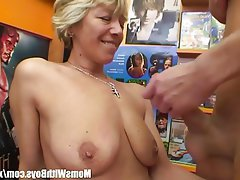 Blonde Blowjob Granny Mature Old and Young