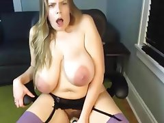 Dildo Masturbation Mature Saggy Tits