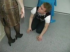 Handjob Mature Old and Young Stockings