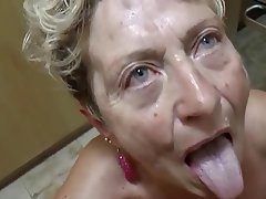 Blowjob Cumshot German Granny Mature