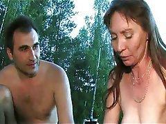 Group Sex Mature MILF Outdoor Russian