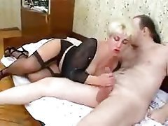 Blonde Hardcore Mature Old and Young Stockings