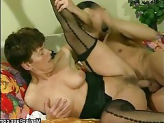 Brunette Facial Hairy Mature Stockings