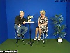 Blonde Granny Hardcore Mature Stockings
