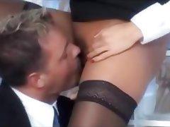 Blonde Czech Hardcore Secretary Stockings